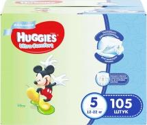 Подгузники Huggies Ultra Comfort для мальчиков 5 (12-22 кг) 105 шт