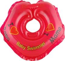 """Круг на шею Baby Swimmer """"Я люблю"""" красный 3-12 кг"""