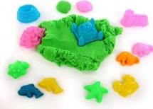 Игровой песок Color Puppy с формочками 1 кг, зеленый