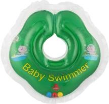 Круг на шею Baby Swimmer зеленый (с погремушкой) 3-12 кг