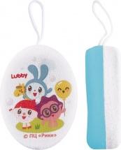 Мочалка Lubby Малышарики голубой