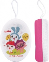 Мочалка Lubby Малышарики розовый
