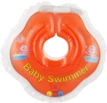 Круг на шею Baby Swimmer оранжевый (с погремушкой) 3-12 кг