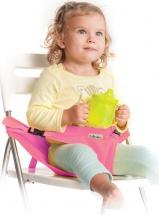 Мобильный стульчик для кормления 2 положения, розовый