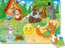Пазлы мягкие Vladi Toys Сказки. Колобок А4 35 элементов