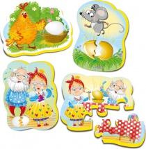 Пазлы мягкие Vladi Toys Baby puzzle Сказки. Курочка ряба 15 элементов