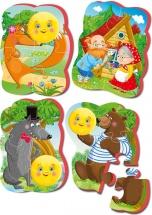 Пазлы мягкие Vladi Toys Baby puzzle Сказки. Колобок 15 элементов