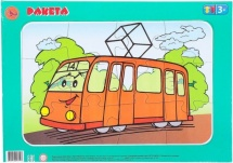 Пазл планшетный Ракета Трамвай 12 элементов