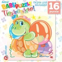 Пазл Origami Baby Puzzle Черепашка с подарком 16 элементов