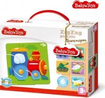 Макси-пазлы Baby Toys Зиг-Заг Транспорт 18 элементов