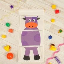 Кармашки Корова для детского сада в шкафчик 63х35 см