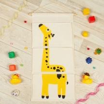 Кармашки Жираф для детского сада в шкафчик 63х35 см