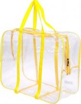 Сумка в роддом 50х40х25 см с карманом, жёлтый