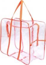 Сумка в роддом 50х40х25 см с карманом, оранжевый