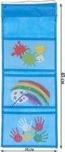Кармашки Краски для детского сада в шкафчик 45х18 см