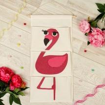 Кармашки Фламинго для детского сада в шкафчик 63х35 см