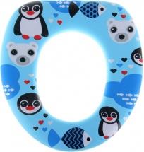 Сиденье для унитаза Доляна Пингвины