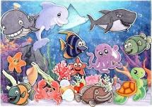 Веселые липучки Lip-Lip LIP Подводный мир с игровым полем