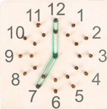 Геоборд Часы-минуты белый
