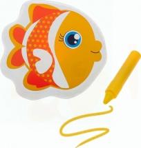 Игрушка для ванны Рыбка с пищалкой (+ водный карандаш)