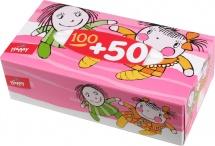 Платочки бумажные Bella baby универсальные 100+50 шт Ляльки