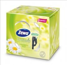 Салфетки бумажные косметические Zewa Deluxe Ромашка 3 слоя 60 шт