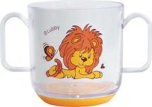 """Кружка Lubby """"Весёлые животные"""" 150 мл, оранжевый (львенок)"""