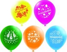 """Воздушный шарик 12""""/30см Поздравляем 1 шт, цвет микс"""