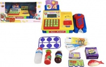 Касса Торговый центр со сканерои и набором продуктов 10 предметов