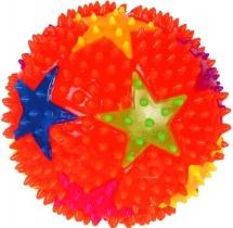 Мяч Звездочки 7,5 см световые эффекты, цвет микс