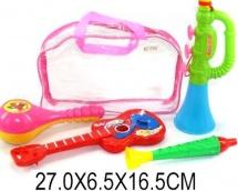 Набор музыкальных инструментов в сумке, 4 предмета