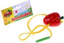 Шнуровка Лесная мастерская Клубничка с червячком