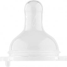 Соска Lubby силикон L с широким горлышком (быстрый поток) с 6 мес