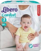 Подгузники Libero Comfort 3 (4-9 кг) 90 шт