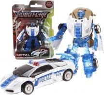 Трансформер Робот-Машина Пламенный мотор Космобот-полиция, металл