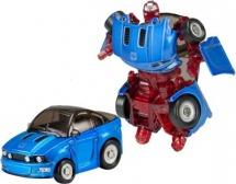Трансформер Робот-Машина Пламенный мотор Космобот синий, металл