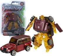 Трансформер Робот-Машина Пламенный мотор Космобот коричневый, металл
