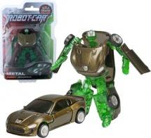 Трансформер Робот-Машина Пламенный мотор Космобот зеленый, металл