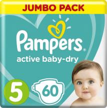 Подгузники Pampers Active Baby 5 (11-16 кг) 60 шт