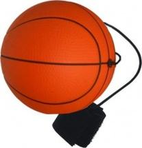 Мяч-прыгун LittleZu Баскетбол на резинке 6,3 см