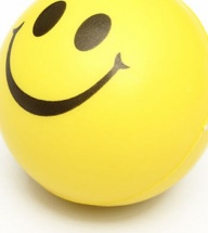 Мяч-прыгун LittleZu Смайлик 6,3 см, желтый