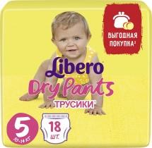 Трусики Libero Dry Pants 5 (10-14 кг) 18 шт