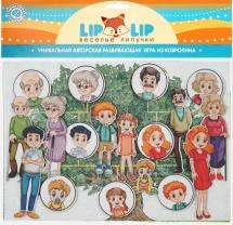 Веселые липучки Lip-Lip LIP Семья с игровым полем
