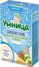 Каша Умница молочная 5 злаков с липой с 6 мес 200 г