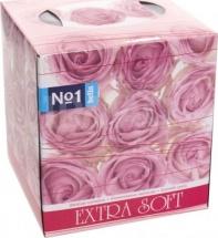 Платочки косметические двухслойные Bella Extra Soft Розовые розы, 80 шт
