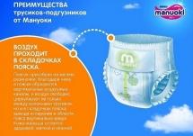 Набор трусиков Manuoki M (6-11 кг) 4 пачки по 56 шт