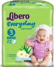 Подгузники Libero Everyday 3 (4-9 кг) 22 шт