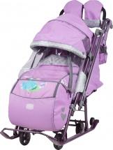 Санки-коляска Ника детям 7-4, лиловый