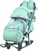 Санки-коляска Ника детям 7-4, мятный