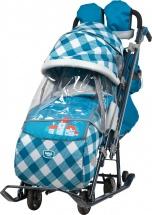 Санки-коляска Ника детям 7-4, капри в клетку